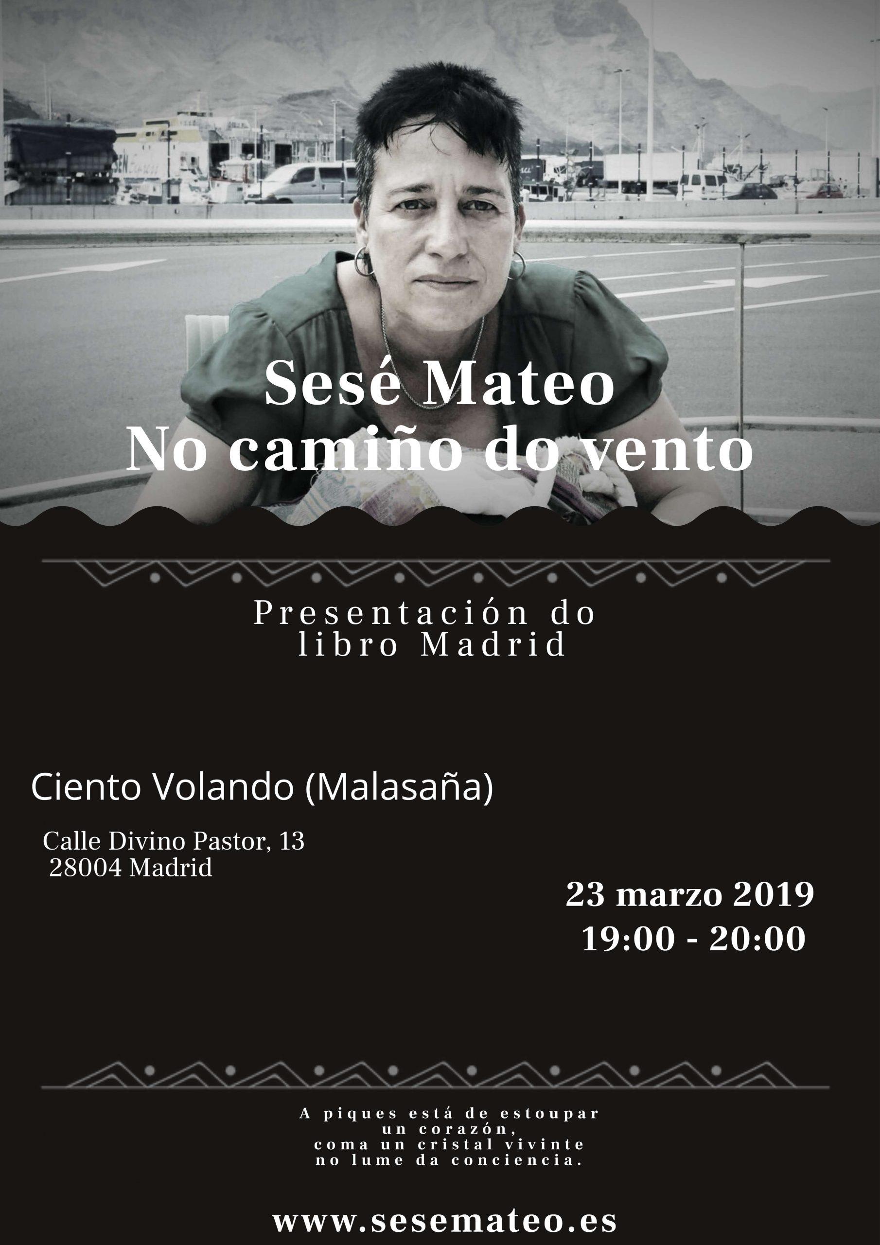 """Presentación """"No camiño do vento"""" de Sesé Mateo en Madrid"""