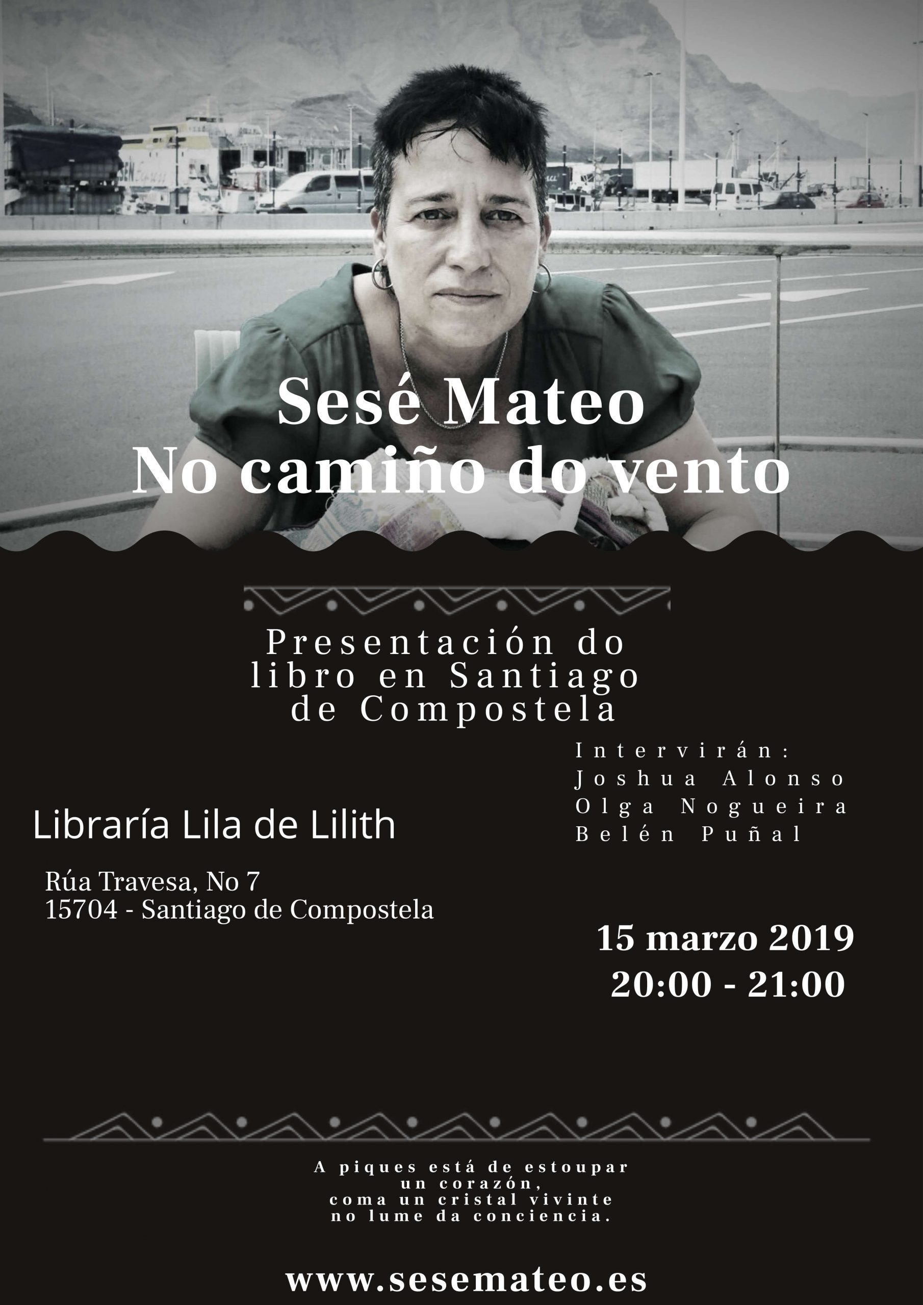 """Presentación """"No camiño do vento"""" de Sesé Mateo en Santiago"""