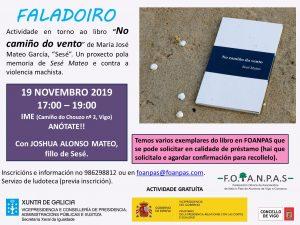 Sesé Mateo en FOANPAS Vigo - 19 Noviembre