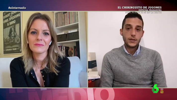 Entrevista Andrea Ropero a Joshua Alonso en el Intermedio