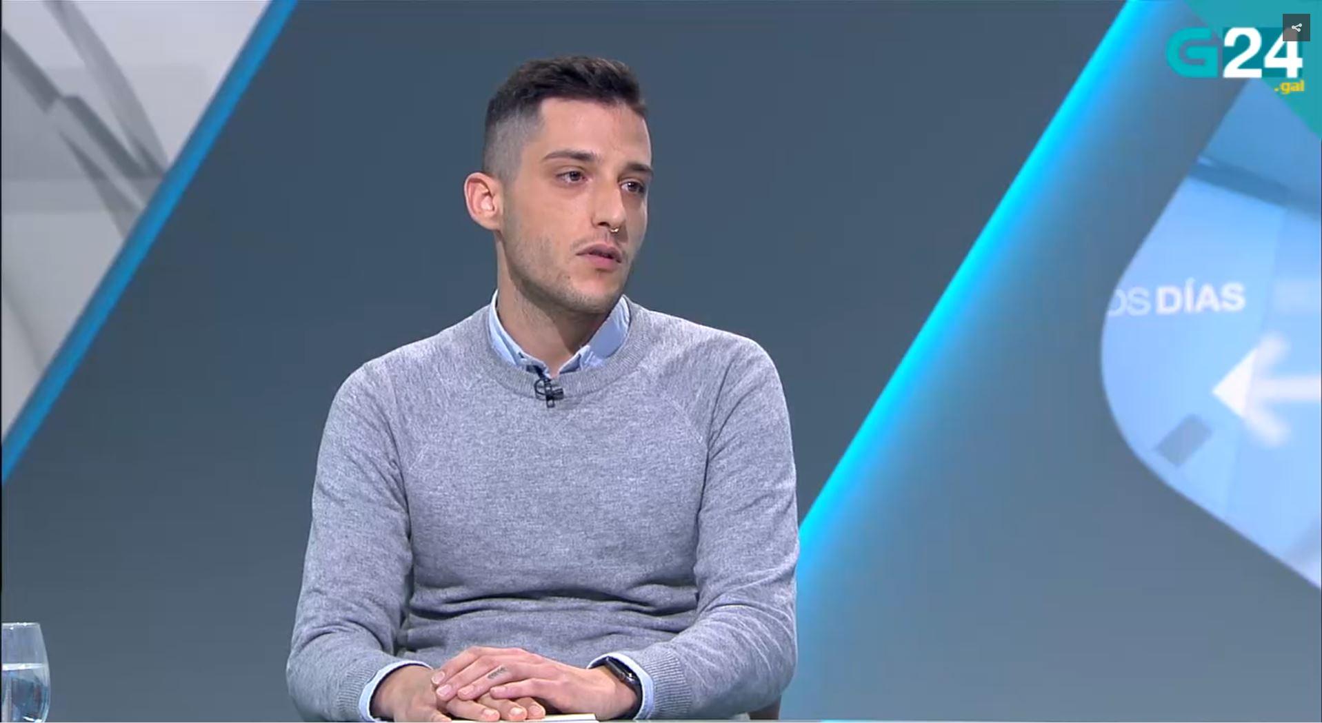 Joshua Alonso Mateo en los informativos de CRTV