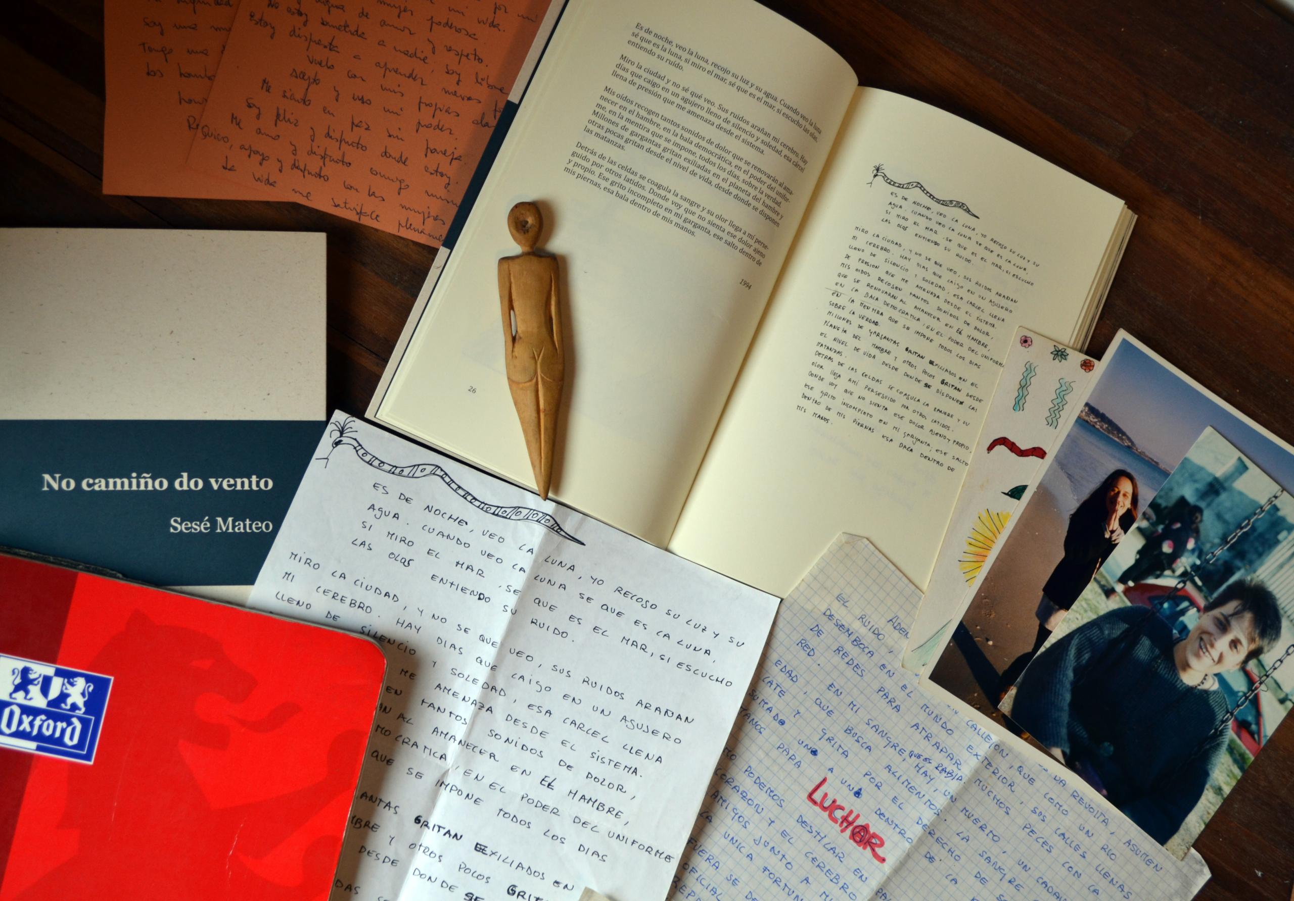 Material utilizado para el libro No camiño do vento